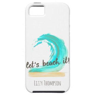 Let's Beach It Case-Mate Tough iPhone SE + iPhone