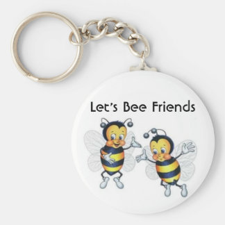 Let's Bee Friends Basic Round Button Key Ring