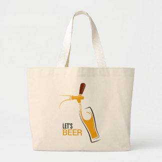 Let's Beer Jumbo Tote Bag