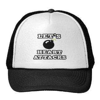 Let's Bomb Heart Attacks Mesh Hats