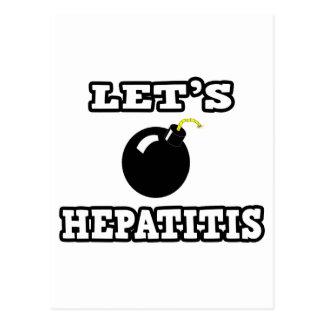 Let's Bomb Hepatitis Post Cards