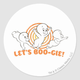 Let's Boo-gie Classic Round Sticker