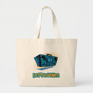 Lets Bounce Boom Box Tote Bags