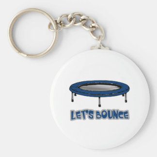 Lets Bounce Trampoline Basic Round Button Key Ring