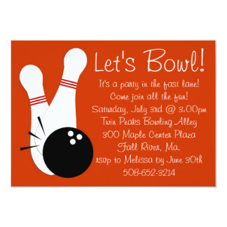 Let's Bowl Party Invitation