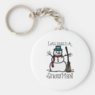 Lets Build A Snow Man Keychains