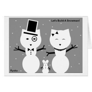 Let's Build A Snowman Card