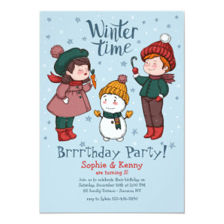 Let's Build a Snowman Invitation