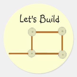 Let's Build Classic Round Sticker