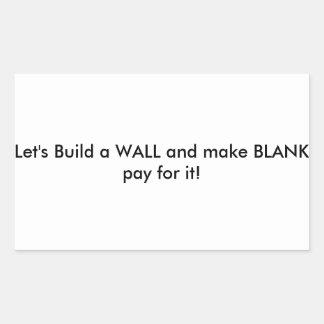 Lets Build it. Rectangular Sticker