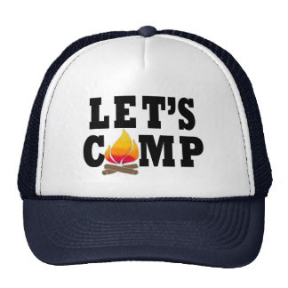 Let's Camp Campfire Trucker Hat