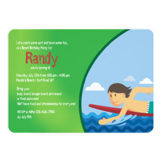 Let's Catch Some Surf Invitation