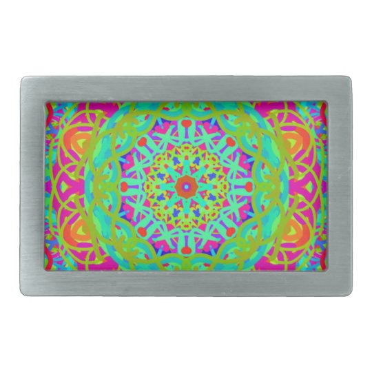 Let's Celebrate Colourful Mandala Belt Buckles
