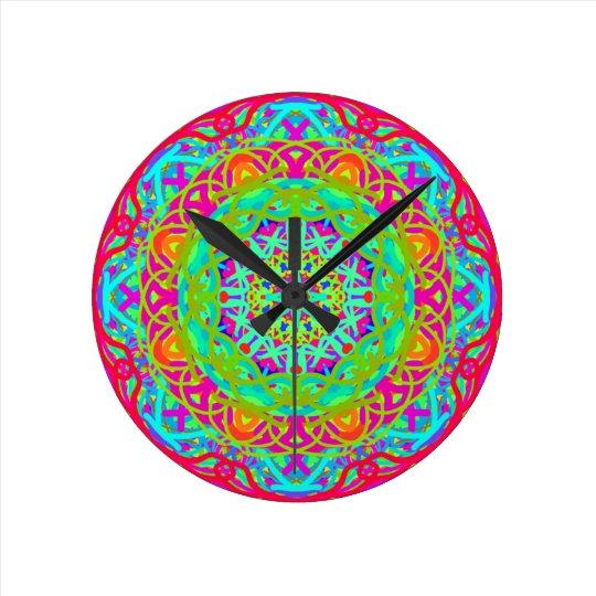 Let's Celebrate Colourful Mandala Clocks