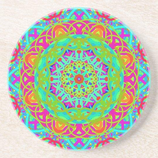 Let's Celebrate Colourful Mandala Coaster