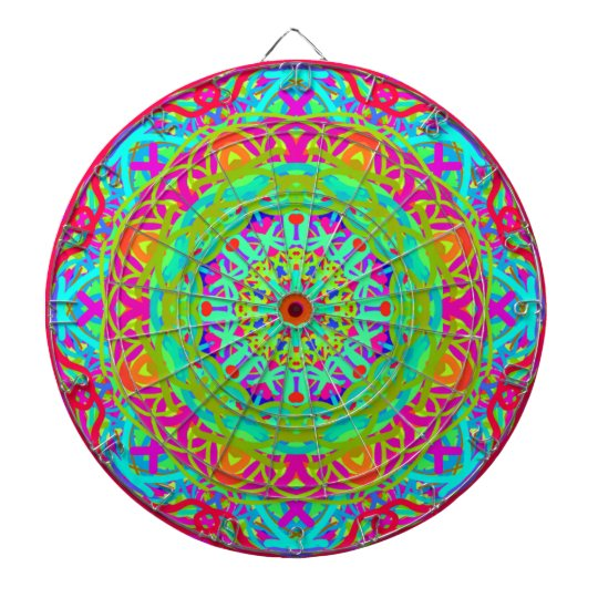 Let's Celebrate Colourful Mandala Dart Boards