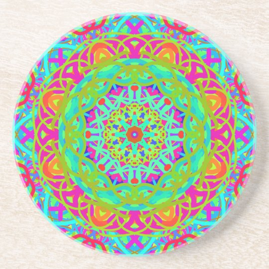 Let's Celebrate Colourful Mandala Drink Coaster