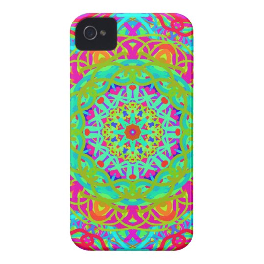 Let's Celebrate Colourful Mandala iPhone 4 Cases