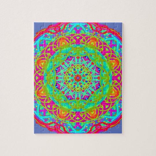 Let's Celebrate Colourful Mandala Jigsaw Puzzle