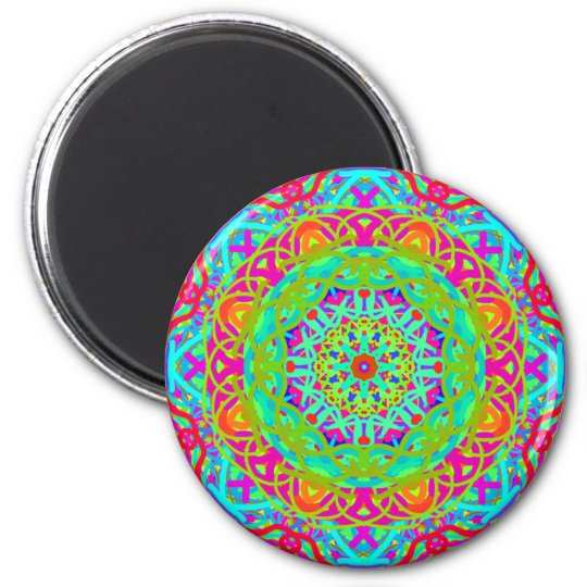 Let's Celebrate Colourful Mandala Magnet