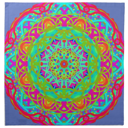 Let's Celebrate Colourful Mandala Napkin
