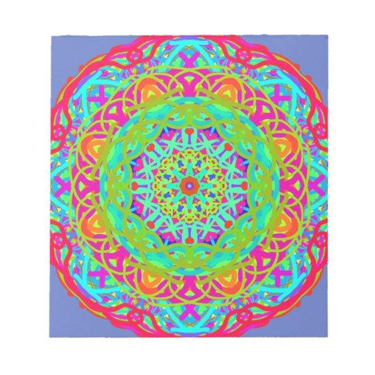 Let's Celebrate Colourful Mandala Notepad