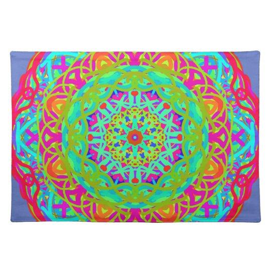 Let's Celebrate Colourful Mandala Place Mats