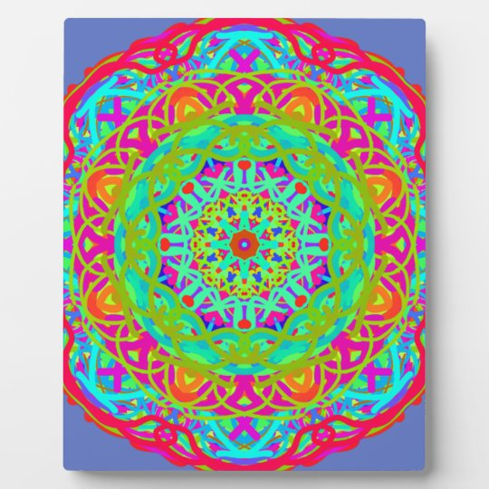 Let's Celebrate Colourful Mandala Plaque