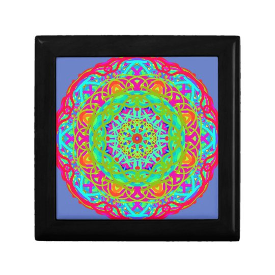 Let's Celebrate Colourful Mandala Small Square Gift Box
