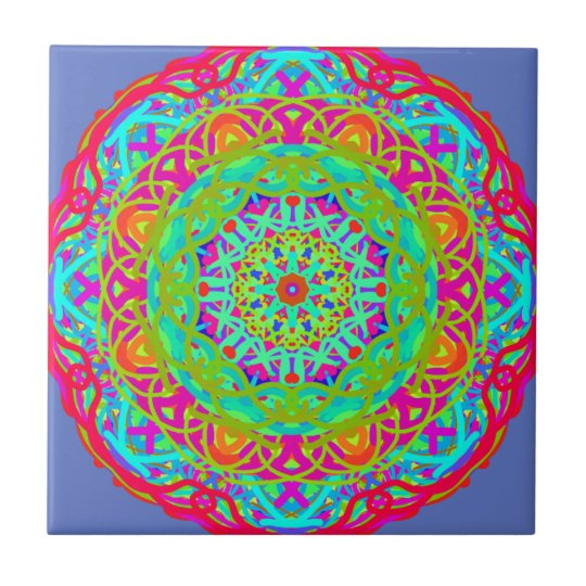 Let's Celebrate Colourful Mandala Tile