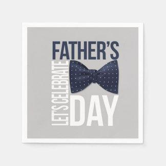 Let's Celebrate Father's Day Party Paper Napkins Disposable Serviette