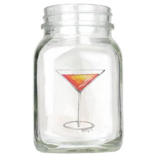 Let's Celebrate Manhattan Martini Cosmo Cocktails Mason Jar