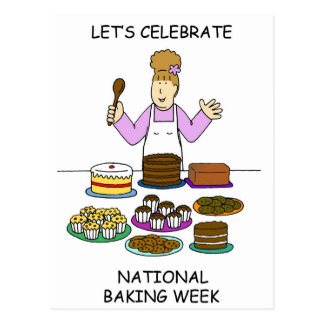 Let's Celebrate National Baking Week Postcard