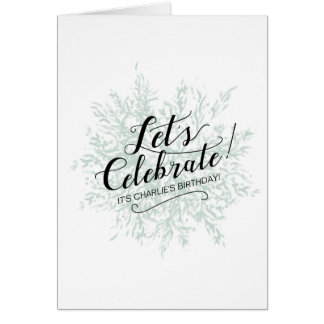 'Let's Celebrate' Personalised Card