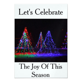Let's Celebrate The Joy of this Season Invitations