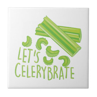 Lets Celerybrate Small Square Tile