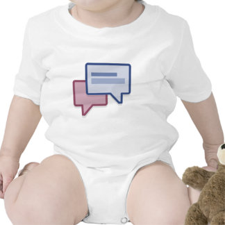 Let's chat on facebook rompers