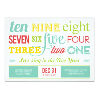 Browse the New Years Eve Invitation Collection and personalise by colour, design or style.