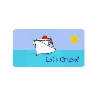 Let's Cruise Bag Tag Label Address Label