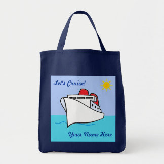 Let's Cruise Personalized Bag Grocery Tote Bag