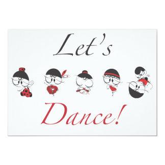 Let's Dance! 13 Cm X 18 Cm Invitation Card