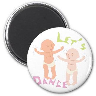 Let's Dance 6 Cm Round Magnet