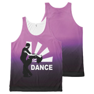 lets dance and have fun All-Over print singlet