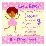 Let's Dance ~ It's Party Time~Kids Birthday Party Personalised Invites