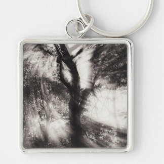 Let's Dance Silver-Colored Square Key Ring