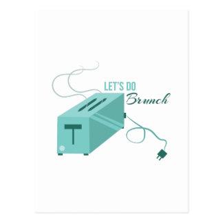 Lets Do Brunch Postcard