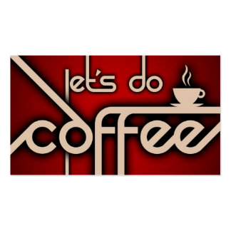 let's do coffee (customer loyalty) pack of standard business cards