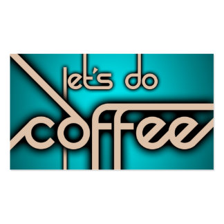let's do coffee ( punch card ) business card template