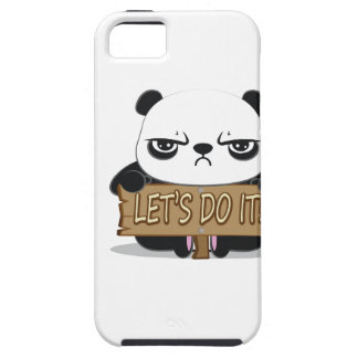 """""""Let's Do It!"""" Panda iPhone 5 Cover"""
