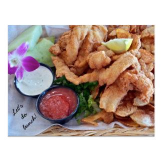 Let's Do Lunch! Florida Grouper Fingers Postcard